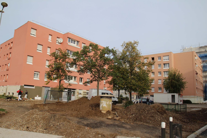 Aménagement du square Alfred-de-Musset et réhabilitation d'immeubles CUS Habitat, maille Karine.
