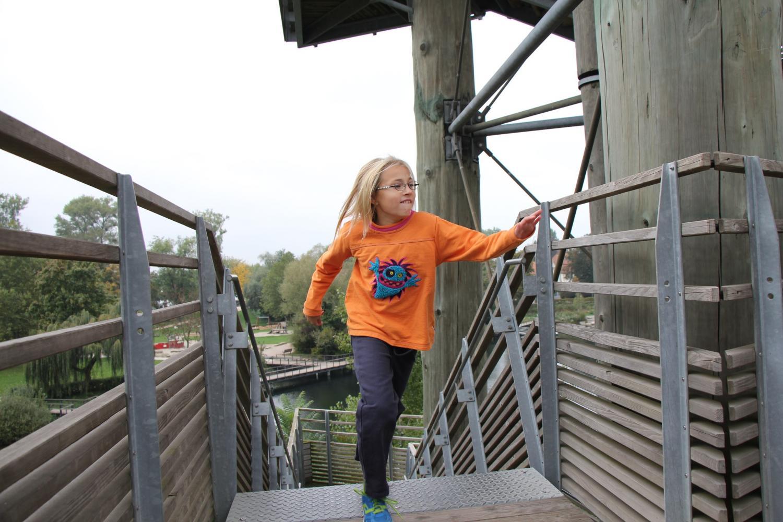 Hors catégorie, Malina, 9 ans, s'est quand même prêtée au jeu, en réalisant un temps d'une minute 32.