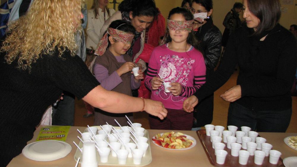 A l'étape 3 était organisé un atelier de dégustation à l'aveugle.