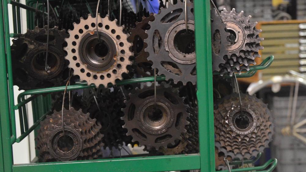Des roues dentées sont également mises à la disposition des membres.