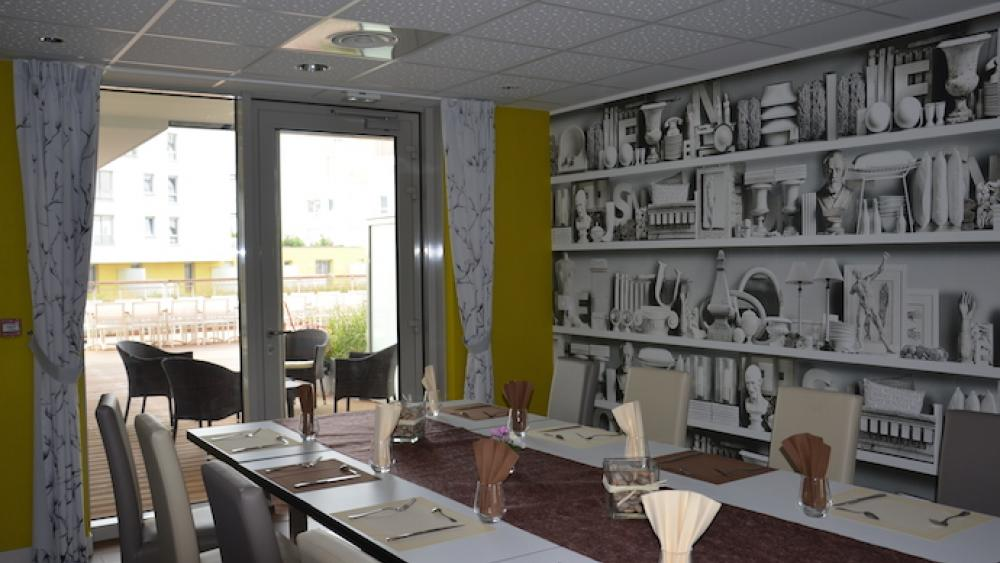 Les résidents peuvent réserver une salle pour des fêtes privées.